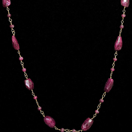 Ruby with Gold Necklace