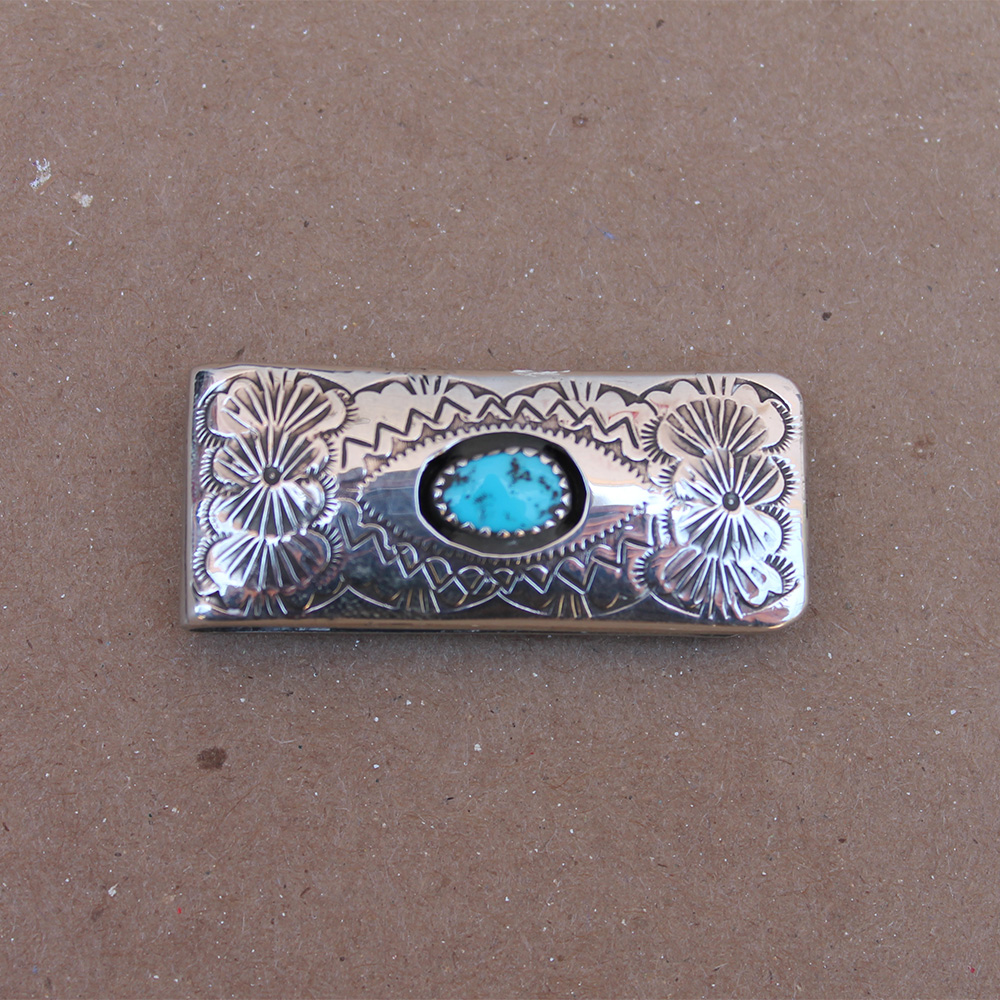 Turquoise Shadow Box Money Clip