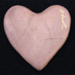 Photo of Raku Heart Pink with signature