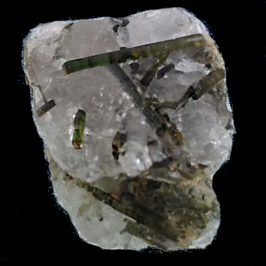 Green Tourmaline with Quartz Crystal