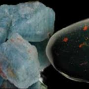 aquamarine and bloodstone: birthstones of earth and water