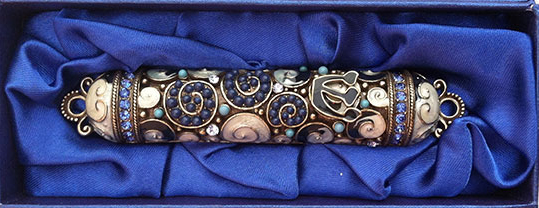 Sapphire Crystal Mezuzah_Mystical Arts by Ruby