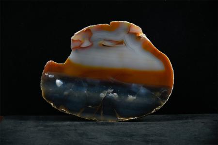 Agate Slice Crystal_shades of brown