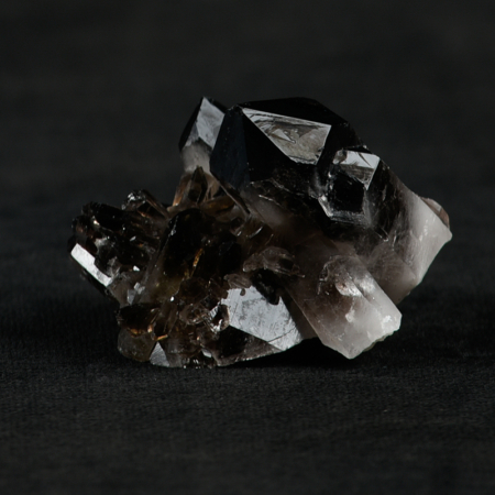 Smokey-Quartz-Cluster crystal_ shimmers in the light