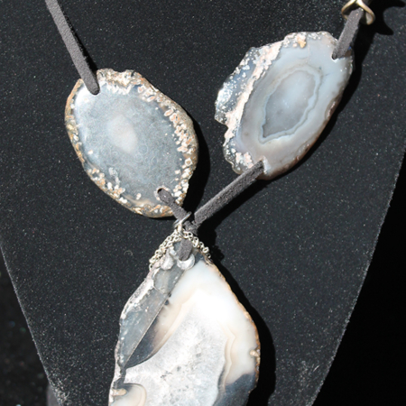 Agate on Leather Necklace