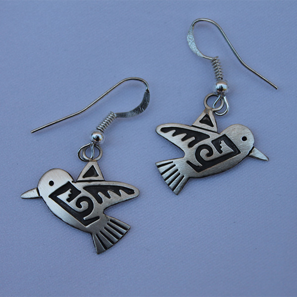 Silver Hummingbird Earrings