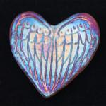 Photo of Raku Heart with Angel Wings