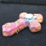 Raku Pottery Sacred Cross_view2_