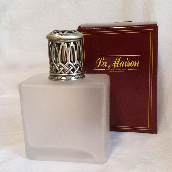 Milk Glass Perfume Lamp